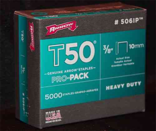 "Staples for T50 Stapler 3/8"" (Case of 20 Boxes/100,000 Staples)"