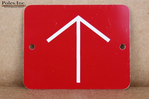 Red Tag with White Arrow ALUMINUM (Bag of 100)