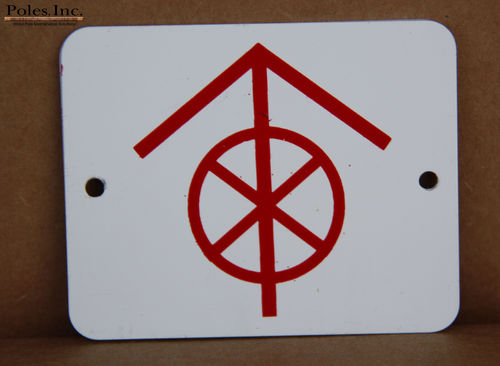 "White Tag with Red Arrow and ""Do Not Climb"" symbol Aluminum (Bag of 100)"