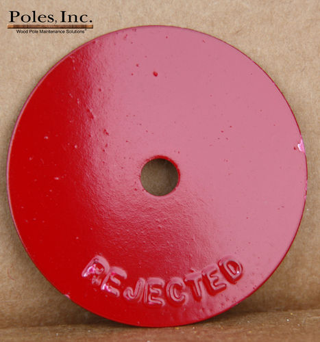 "Reject Tags 2"" Aluminum Round RED (Bag of 250)"