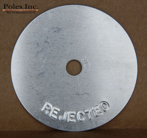 "Reject Tags 2"" Aluminum Round SILVER (Bag of 250)"