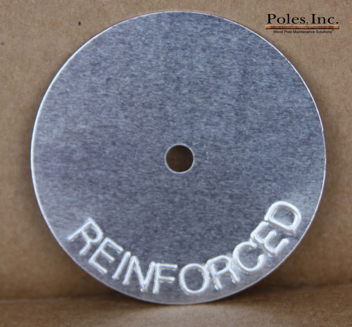 "Reinforced Tags 2"" Aluminum Round SILVER (Bag of 250)"