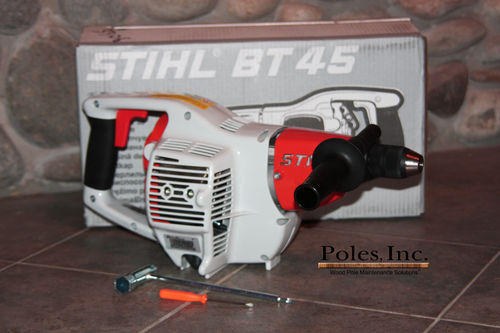 Stihl T45 Gas Powered Drill 27cc, two Speed, Reversible
