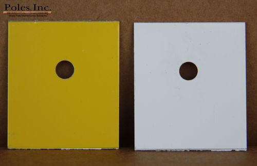 "Pole Tag 1"" x 1 1/4"" Aluminum Yellow one side/White other side (Bag of 500)"