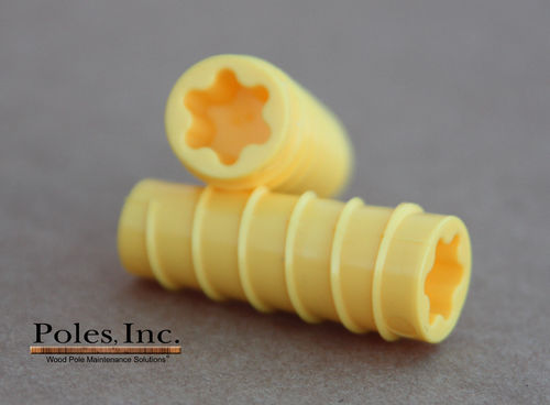 "S2R2 Plastic Pole Plug™  YELLOW 9/16""  (5 Gallon Pail/1,500 Plastic Plugs)"