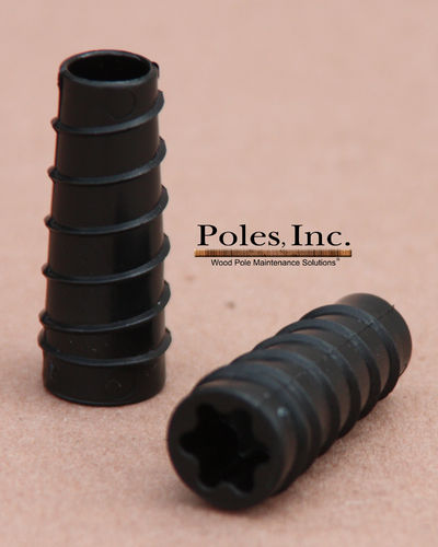 "S2R2 Plastic Pole Plug™  BLACK 9/16""  (1 Gallon Pail/300 Plastic Plugs)"
