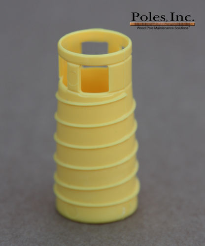 "S2R2 Plastic Pole Plug™  YELLOW 7/8"" (1 Gallon Pail/100 Plastic Plugs)"
