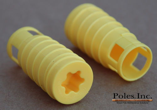 "S2R2 Plastic Pole Plug™  YELLOW 7/8"" (5 Gallon Pail/550 Plastic Plugs)"