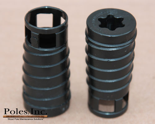 "S2R2 Plastic Pole Plug™  BLACK 7/8"" (1 Gallon Pail/100 Plastic Plugs)"