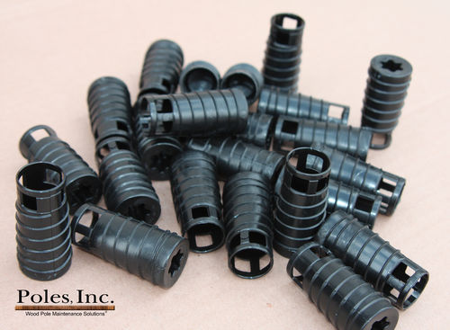 "S2R2 Plastic Pole Plug™  BLACK 7/8"" (5 Gallon Pail/550 Plastic Plugs)"