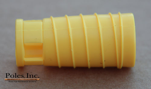 "S2R2 Plastic Pole Plug™  YELLOW 3/4"" (1 Gallon Pail/150 Plastic Plugs)"
