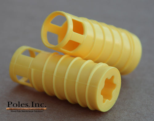 "S2R2 Plastic Pole Plug™  YELLOW 3/4"" (5 Gallon Pail/650 Plastic Plugs)"