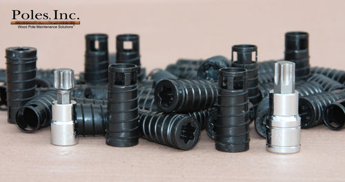 "S2R2 Plastic Pole Plug™ BLACK 3/4"" (1 Gallon Pail/150 Plastic Plugs)"