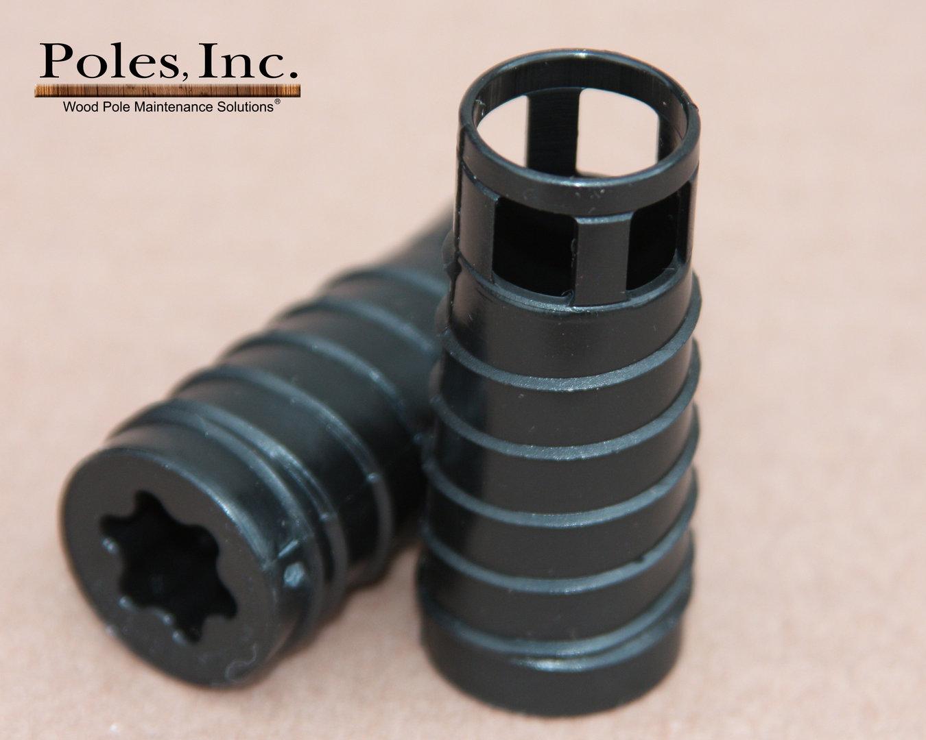 S r plastic pole plug™ black quot plugs