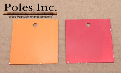 "Pole Tag 2"" x 2"" Aluminum Orange one side/Red other side (Bag of 100)"