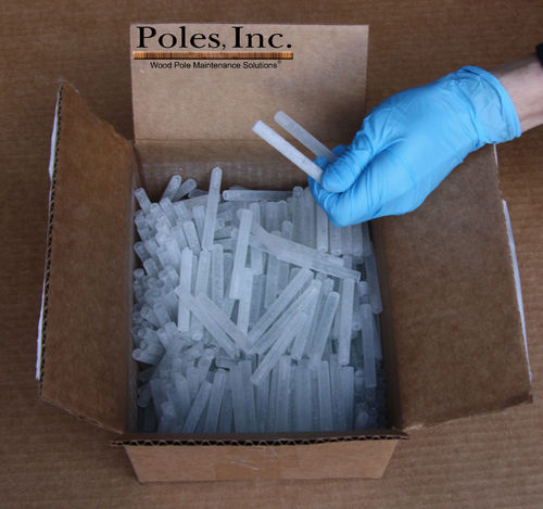 "BOR 8 RODS 1/3"" x 2 5/8"" Solid Internal Treatment (Pail of 500 Rods)"