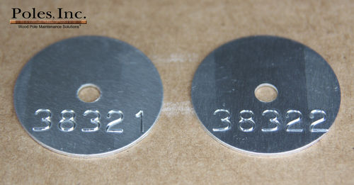 Consecutive Numbered Round Tag without Company Name and/or Year (Bag of 500)